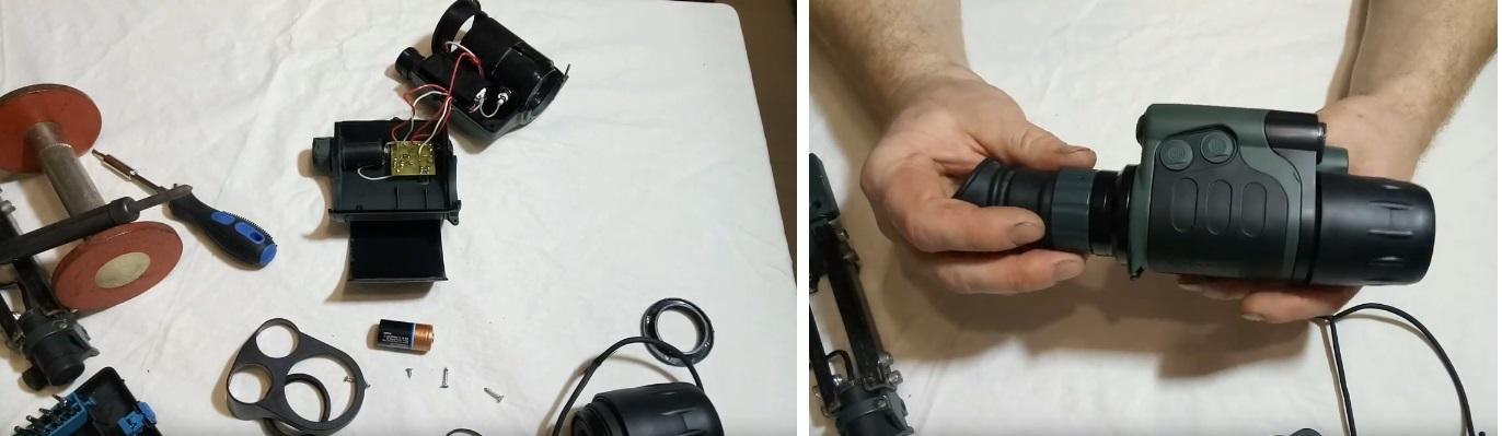 фото до и после ремонта монокуляра